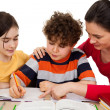 Mother teaching kids — Stock Photo