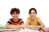 Kids doing homework — Stock Photo