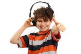Boy with headphones — Stock Photo