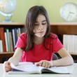 Girl doing homework — Stock Photo
