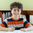 Foto de Stock  : Boy doing homework