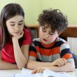 Children doing homework — Foto Stock
