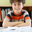 Boy doing homework — Stok Fotoğraf #32801587