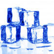Stock Photo: Blue tuned ice cubes