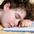 Boy sleeping on book — Stock Photo #32815523