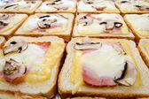 Closeup of delicious homemade toasts — Stock Photo