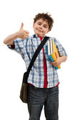Student with thumbs up — Stock Photo