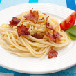 Pasta with bacon and vegetables — Stock Photo #32834733