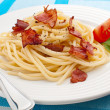 Pasta with bacon and vegetables — Stock Photo #32834847