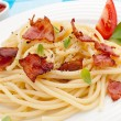 Pasta with bacon and vegetables — Stock Photo #32834925