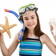 Girl ready to swim and dive — Stock Photo #32838809