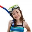 Girl ready to swim and dive — Stock Photo #32838871