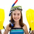 Girl ready to swim and dive — Stock Photo #32838907