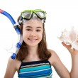 Girl ready to swim and dive — Stock Photo #32838953