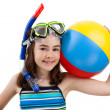 Girl ready to swim and dive — Stock Photo #32838973