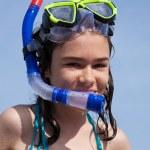Teenage girl on beach — Stock Photo #32839557