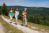 Família caminhando — Foto Stock