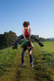 Kids playing outdoor — Stock Photo
