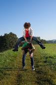 Bambini che giocano all'aperto — Foto Stock