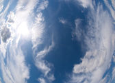 Blue sky and clouds — Stock Photo