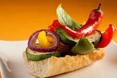 Vegetarian sandwich — Stock Photo