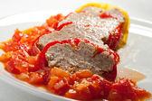 фаршированным перцем с мясом — Стоковое фото