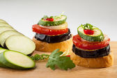 Sandwichs végétariens — Photo