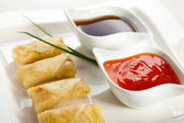 Fried Chinese traditional spring rolls — Stock Photo
