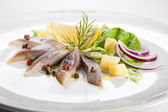 Marinated herring fillets — Stock Photo
