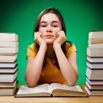 Student doing her homework — Stock Photo #32938927
