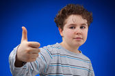 Boy with thumbs up — Stock Photo