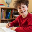 Boy learning at home — Stock Photo