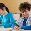 Kids learning at home — Stock Photo