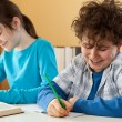Kids learning at home — Foto Stock