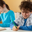 Kids learning at home — Foto de Stock