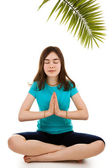 Girl meditating — Stock Photo