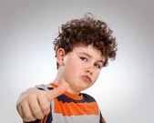 Young boy with thumbs up — Stock Photo