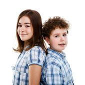 Girl and boy — Stock Photo