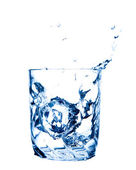 Splash water in glass — Stock Photo