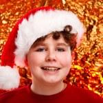 Boy as Santa Claus — Stock Photo