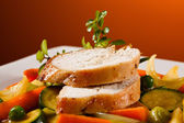 Roasted chicken breast — Stock Photo