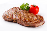 Grilled steaks and vegetabls — Stock Photo