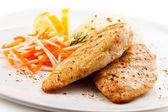 Gegrilde kip borsten en groenten — Stockfoto