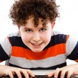 Boy using computer  — Stock Photo