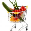 Shopping trolley full of goods  — Stock Photo