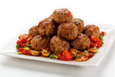 Roasted meatballs — Stock Photo