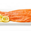 Fresh raw salmon fillet — Stock fotografie