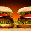 Two Big hamburgers — Stock Photo