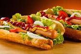 Two Hot dogs — Stock Photo