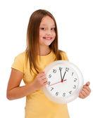 Menina com relógio — Foto Stock